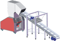 Feeding conveyor with magnetic separator