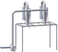 Two big-bags feeding station VZT_BB2, basic set of pipes and fittings VZT_Z, transport fan